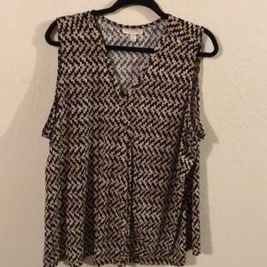 Dana Buchman 2x sleeveless blouse